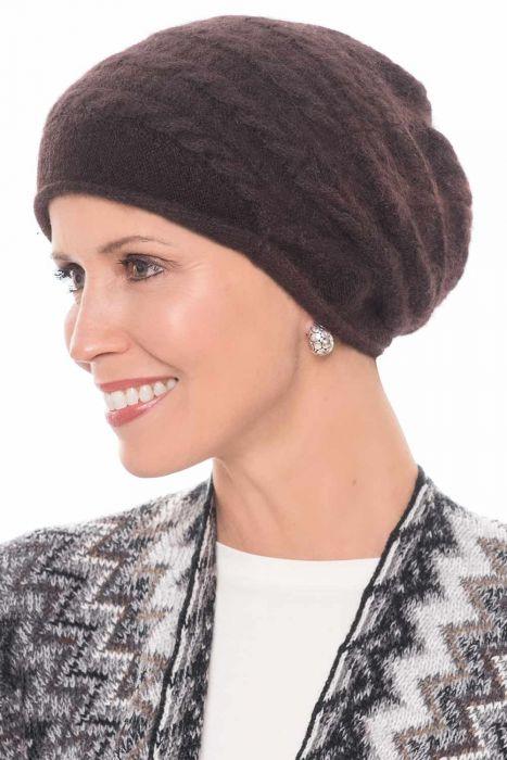 Relaxed Angora Beanie Cap | Fall & Winter Beanies for Women |