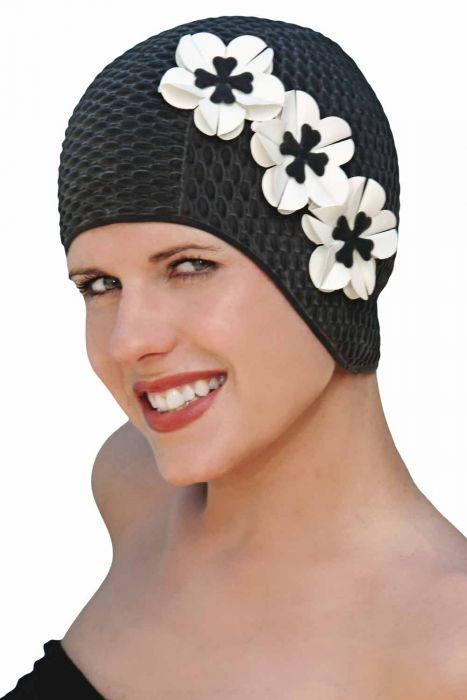 Sheridan Retro Floral Swim Cap