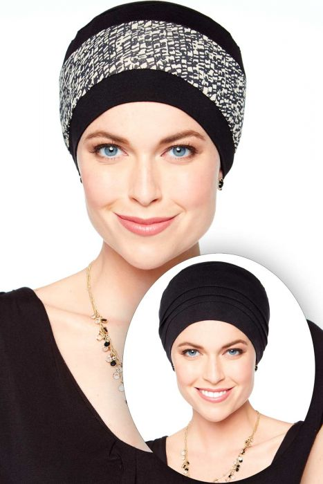 Cardani Reversible Hat | Bamboo Viscose Two in One Turban Cap