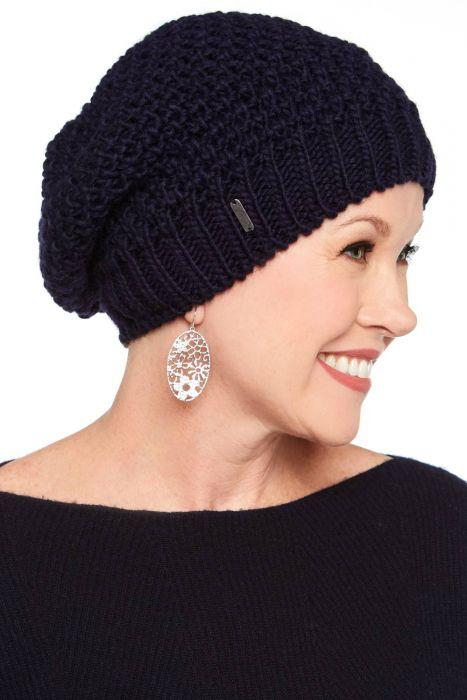 Josephine Moss Stitch Slouch Beanie Hat | Slouch Cap in Alpaca & Wool Blend