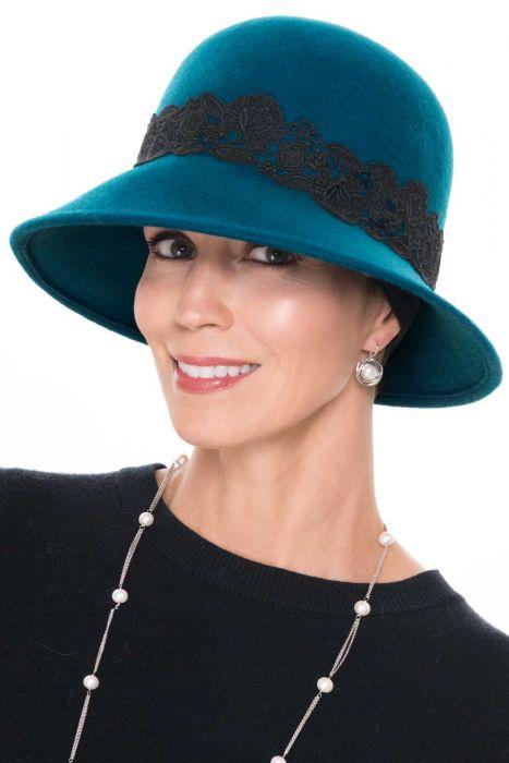 Rosalie Lace & Felt Cloche Hat | Wool Women's Hat