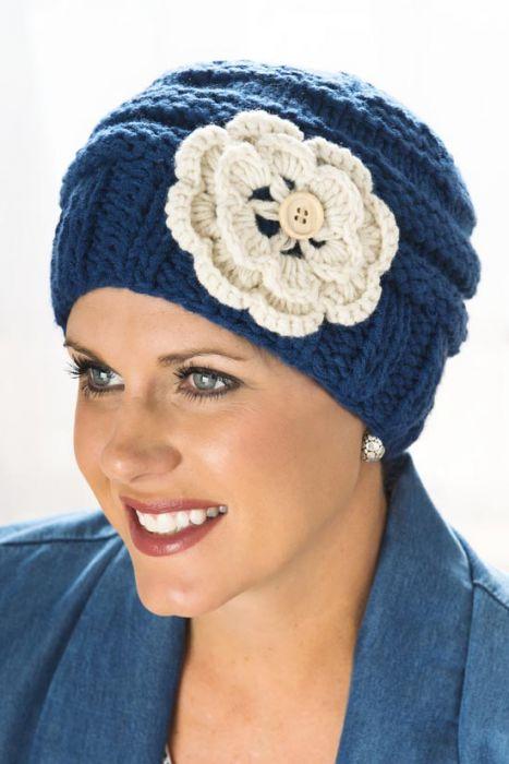 Ruthie Flower Beanie Hat