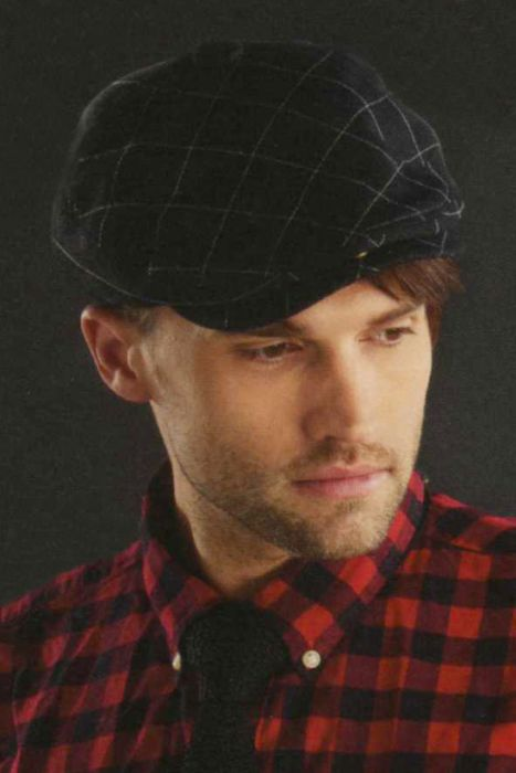 Mens Wool Quilted Driver Cap