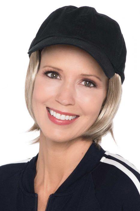 Baseball Cap with Hair | Cardani Short Page Ballcap Hat with Hair