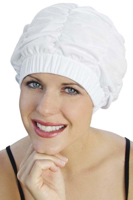 Shirred Shower Cap by Sync | Vintage, Retro Swim Cap | Beach Hat