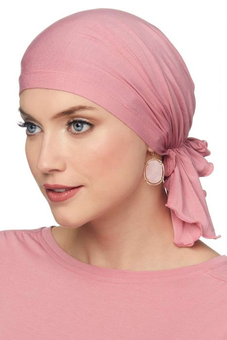 Slip-On Scarf - Pre-Tied Head Scarf in Solids