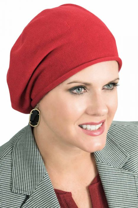 Soft All Cotton Knitted Slouchy Beret Cap