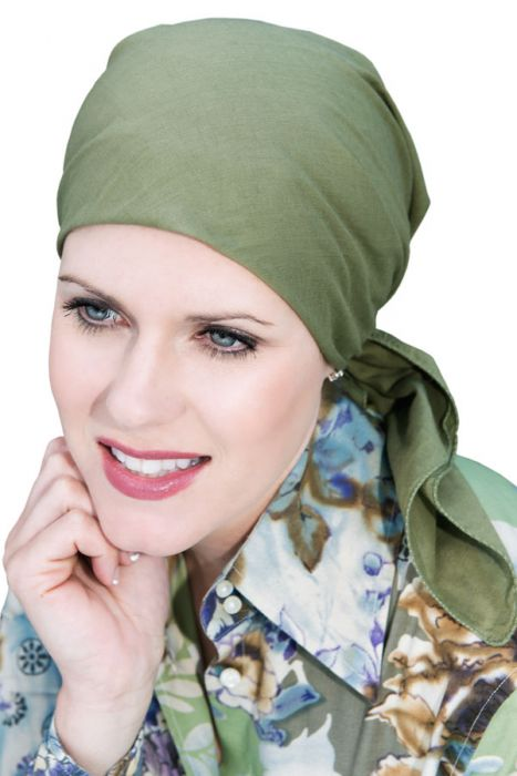Certified Organic Cotton Head Scarf - 28 Square