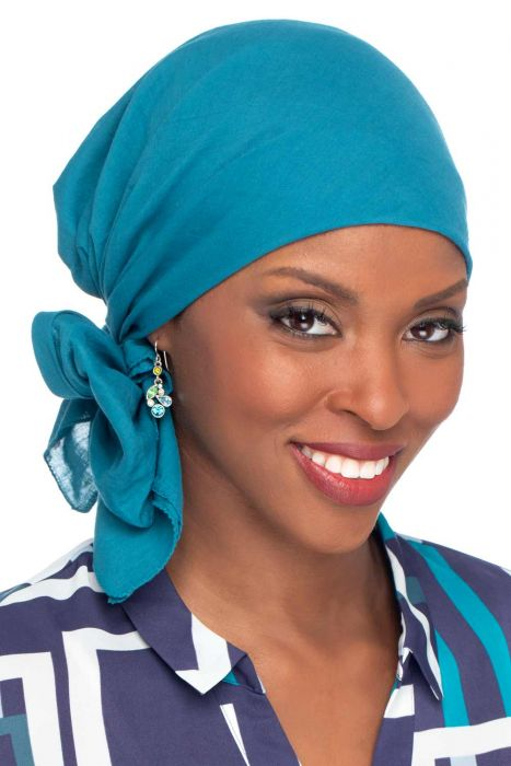 All Cotton Solid Square Head Scarves - 30.5 Square