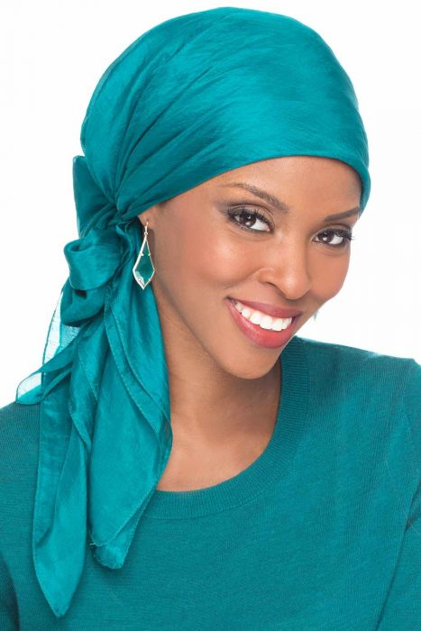Solid Silk Square Head Scarf | 100% Silk Scarves for Head