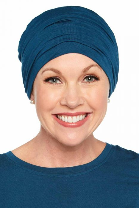 Large Sophisticate Turban | Cardani Viscose from Bamboo Hat for Large Heads