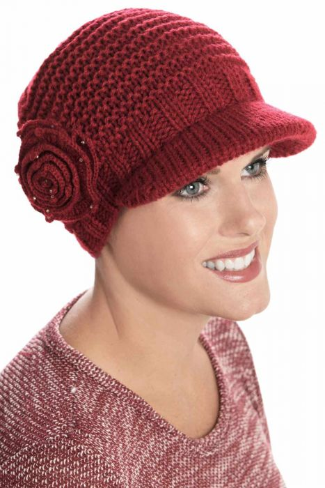 Stephanie Cap | Fall & Winter Knitted Newsboy Hat for Women