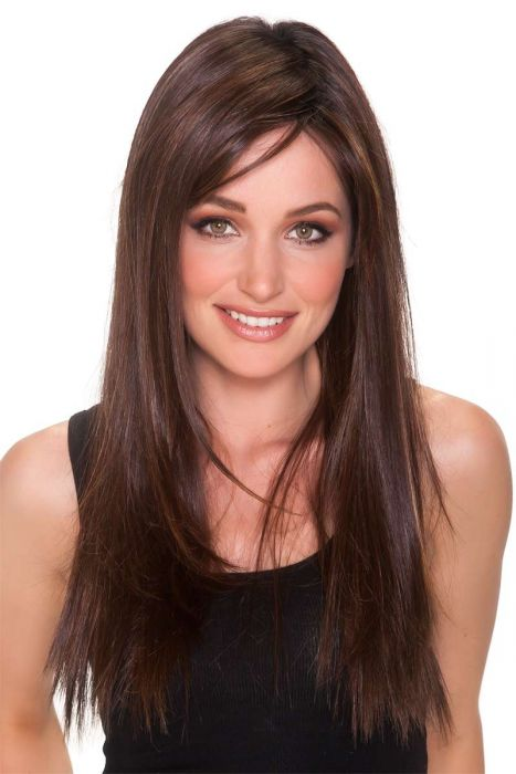 23 Inch Straight Press by Belle Tress Wigs - Heat Friendly Synthetic, Monofilament, Lace Front Wig