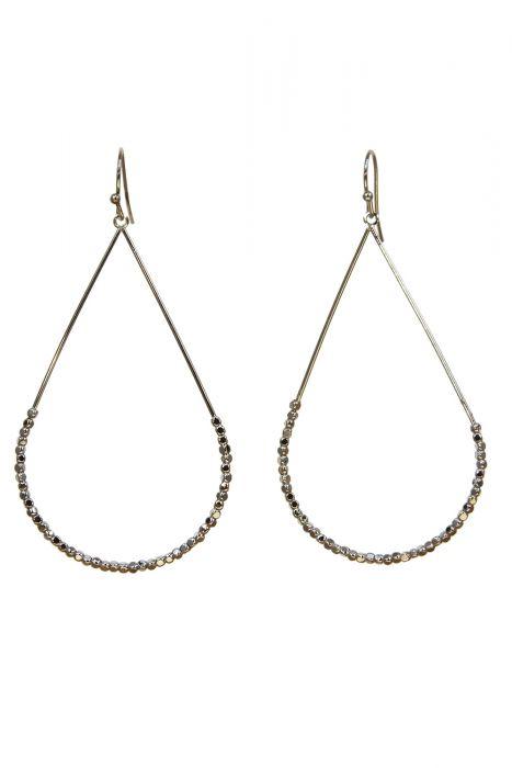 Surgical Steel Earrings | Silver Beaded Teardrop Earrings