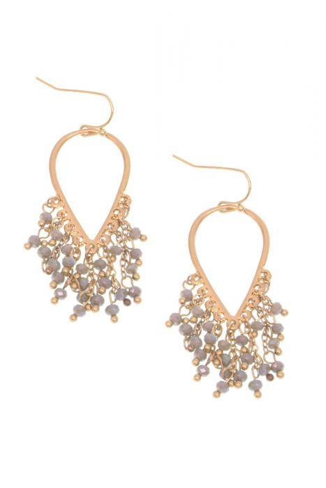 Reverse Teardrop Beaded Chandelier Earrings | Nickel Free & Hypoallergenic Earrings |