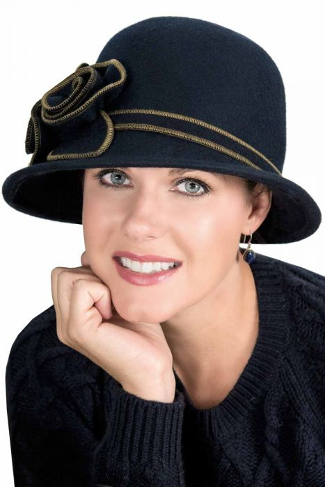 Therese Cloche Hat - Wool Vintage Style Hats for Women