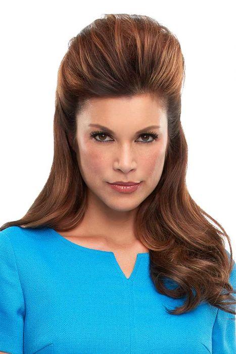 Top This 16 Inch Human Hair Topper by Jon Renau Wigs - Single Monofilament, Remy Human Hair Topper