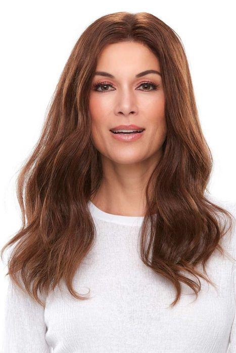 """Top Smart HH 18"""" by Jon Renau Wigs - Human Hair, Lace Front, Single Monofilament Topper"""