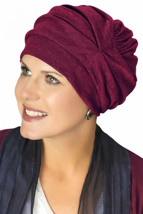 100% Cotton Trinity Turbans in  | 3 Way Headcovering | Burgundy Wine