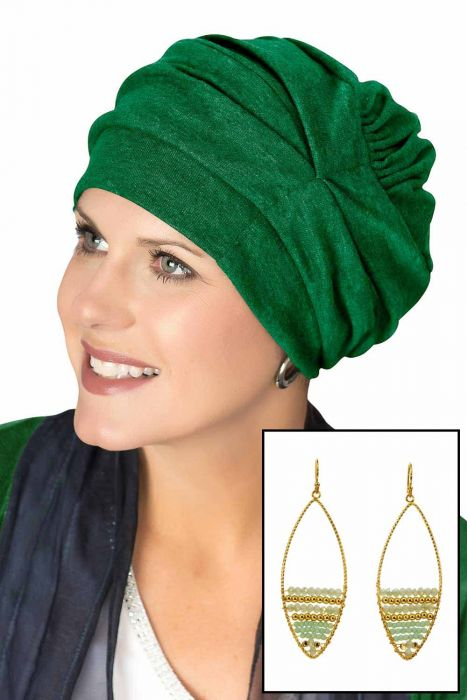 Cotton Trinity Turban with Matching Statement Earrings | Value Gift Set