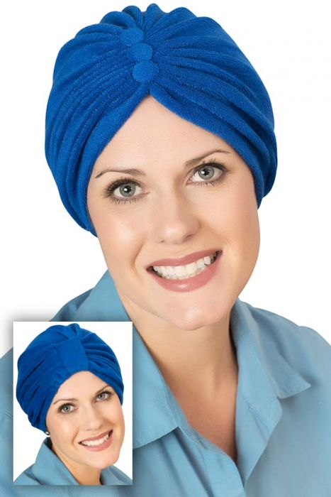 Two Way Reversible Button Terry Turbans