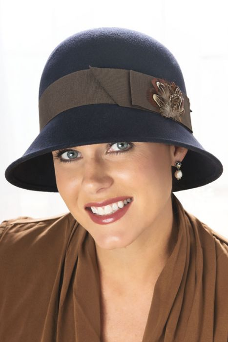 Tyler Feather Cloche Hat