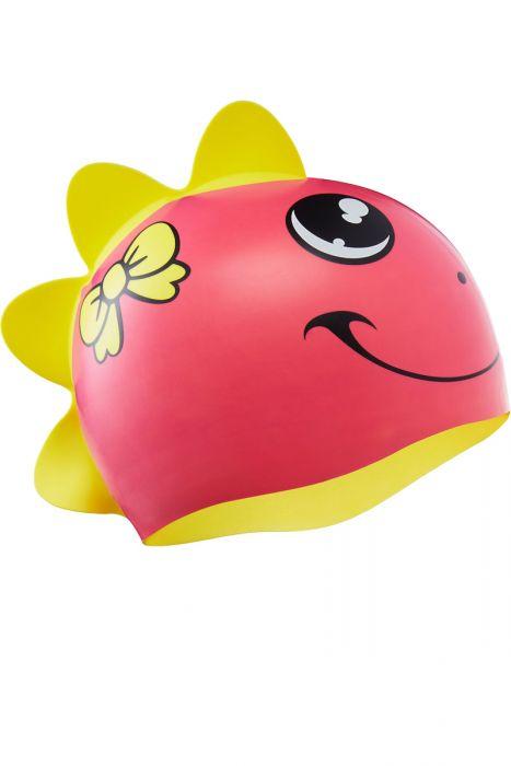 TYR Dino Silicone Swim Cap for Kids