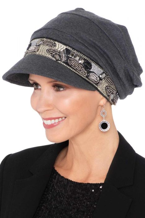 Uptown Slouchy Hat | Embellished 100% Organic Cotton Newsboy Cap