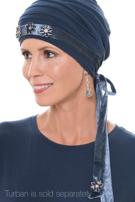 Bejeweled Velour Hat Accessory and Headband