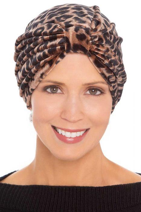 Leopard Velour Turban | Stylish Turbans for Women |