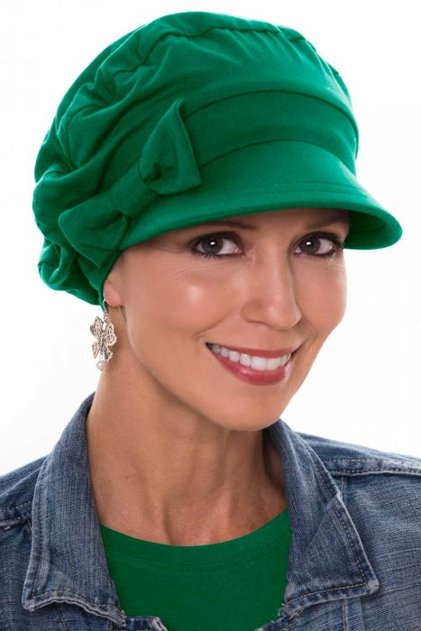 Versatility Newsboy Hat in Luxury Bamboo by Cardani | Emerald Luxury Bamboo - Emerald Luxury Bamboo - Emerald Luxury Bamboo - Emerald