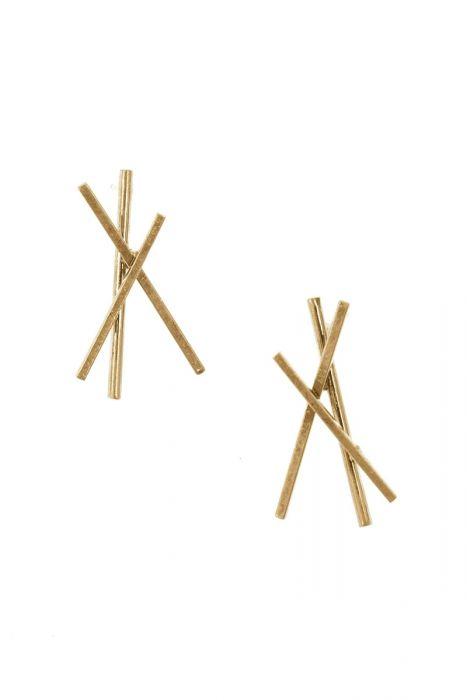 Vintage Gold Bonfire Stud Earrings | Nickel & Lead Free Earrings