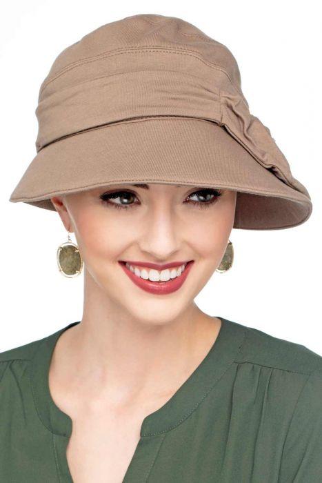 Violet Flapper Hat   Vintage UPF 50+ Hat   100% Cotton with Aloe Vera Lining