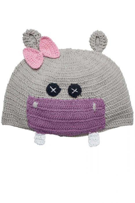 Cotton Crochet Hippo Hat