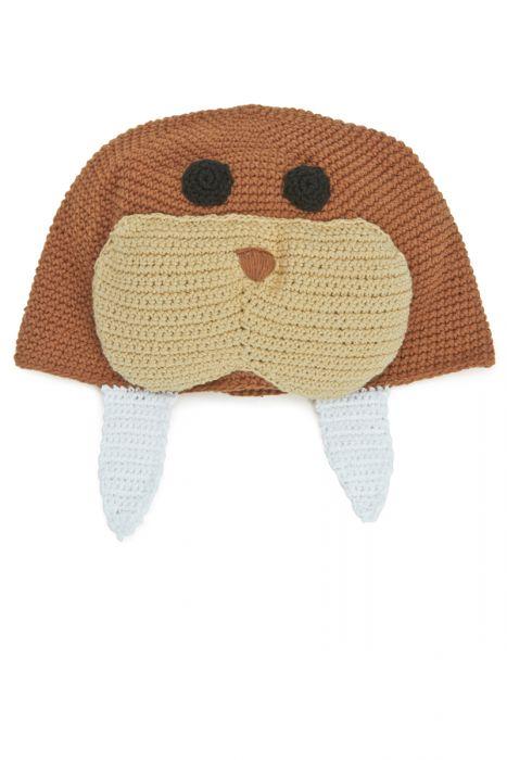 Crocheted Walrus Hat for Kids