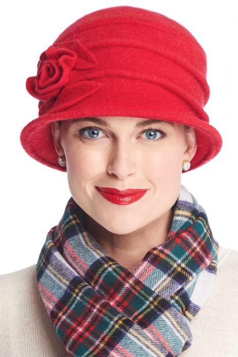Wool Whitney Rose Cloche Hat | Winter Wool Hats for Women
