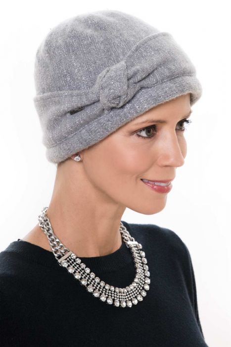 Wool Knotted Nellie Sparkle Cloche Cap