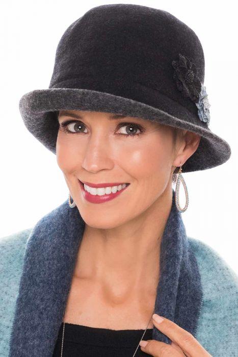Petite Sized Wool Nina Cloche Hat | Fall & Winter Felt Hat for Women