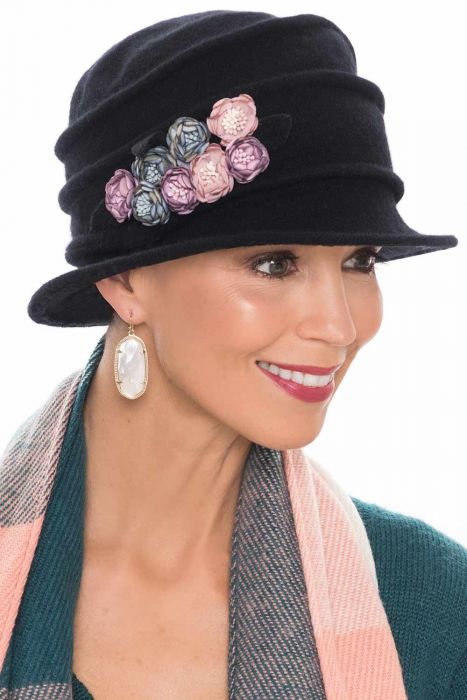 Wool Sasha Flower Cloche Hat | Fall and Winter Hats for Women