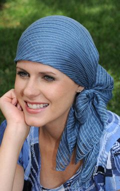 Denim Dana Head Scarf