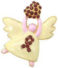 Heart Disease Awareness Ribbon Angel Pin |