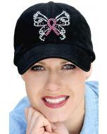 Pink Ribbon Butterfly Baseball Cap
