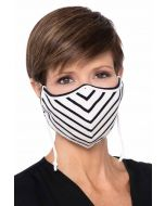 Clearance Colors   Bamboo Face Mask with Filter Pocket   Black and White Stripes