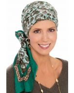100% Pure Silk Head Scarf | Silk Scarf for Hair | Coral Garden Paisley