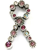 Patricia Locke Pink Ribbon Tack Pin - Breast Cancer Pin