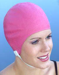 Retro Blossom Swim Cap