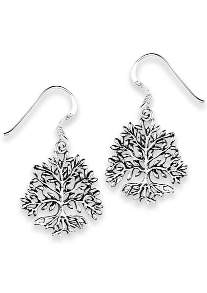 Sterling Silver Earrings | Tree of Life Earrings |