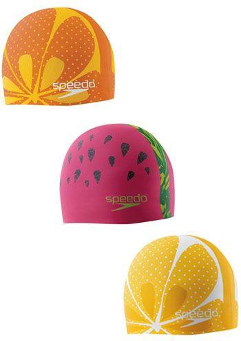 Orange Speedo Junior Moulded Silicone Swimming Cap Hat