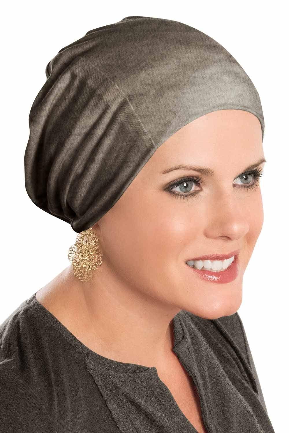 PoCo DeSiGn LAGENLOOK Ballon-Mütze Beanie Slouch Chemo-Cap Punta Jersey weiß