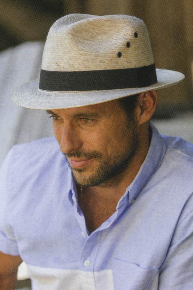 Mens 2 Inch Brimmed Straw Fedora Hat | Cool Hats for Guys